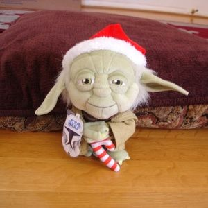 """STAR WARS 7"""" New w/ Tag Super Deformed Santa Yoda"""